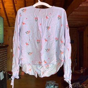 Short crop blouse